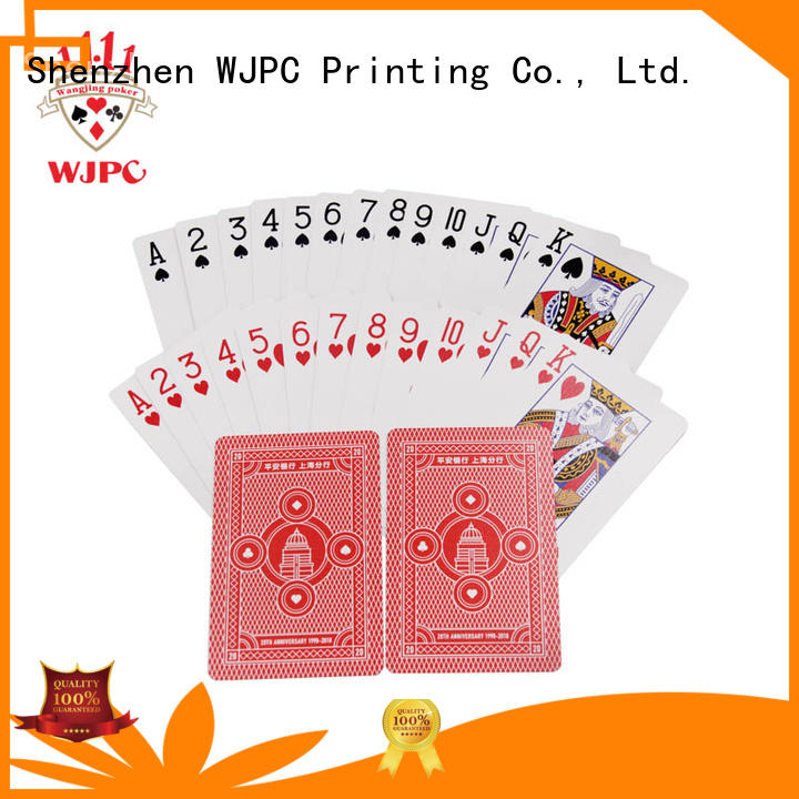WJPC customized promotional deck of cards company for kindergarten