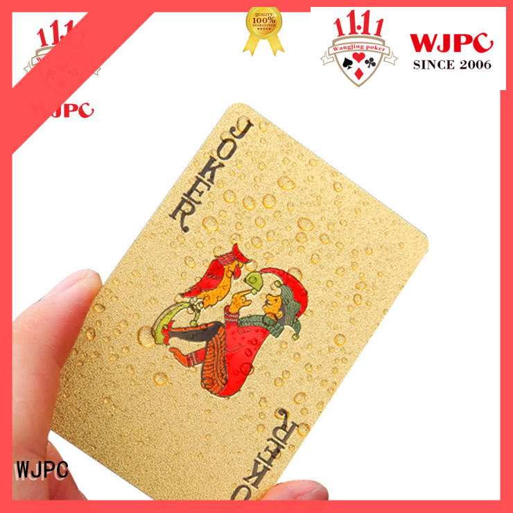 fashion custom plastic playing cards full factory for party