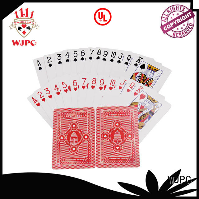 WJPC playing promotional poker cards factory for board game
