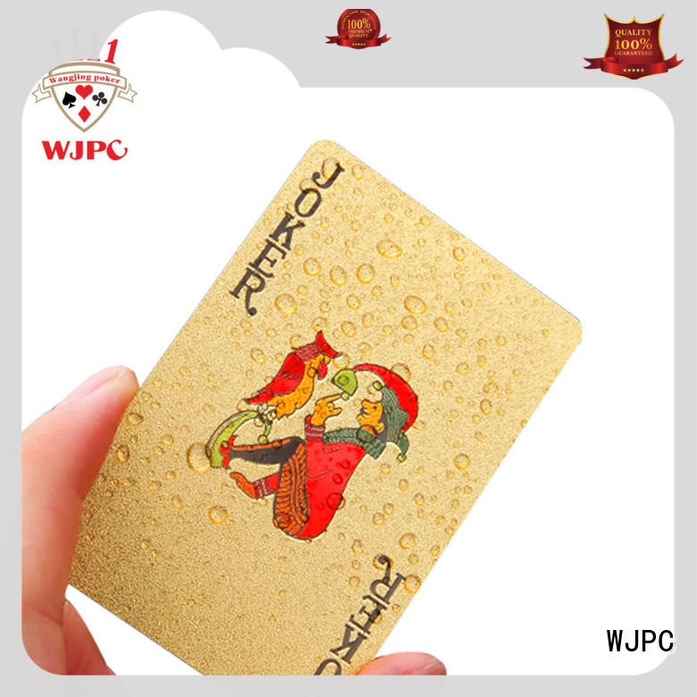 WJPC hot sale custom plastic playing cards Supply for party