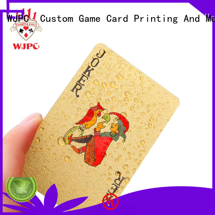 WJPC funny custom playing cards in china for board game