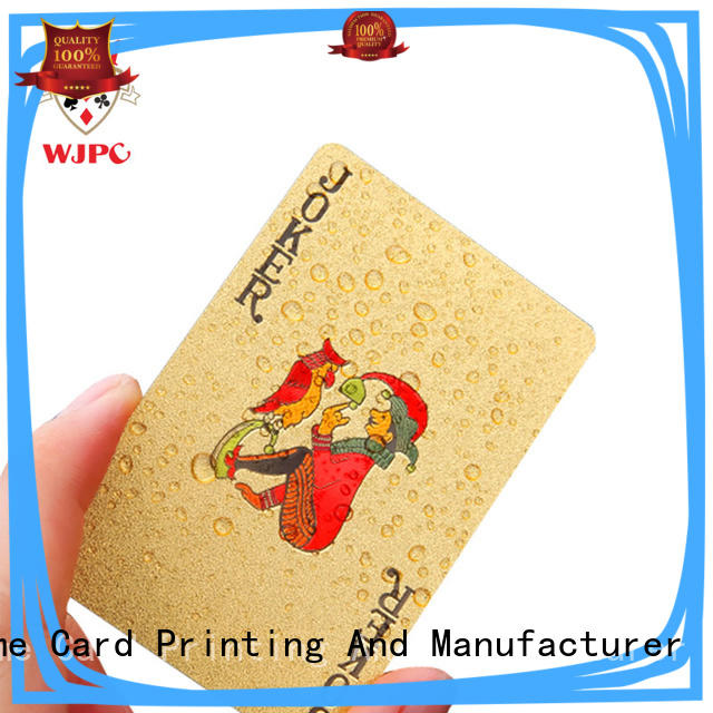 waterproof plastic playing card overseas market for board game