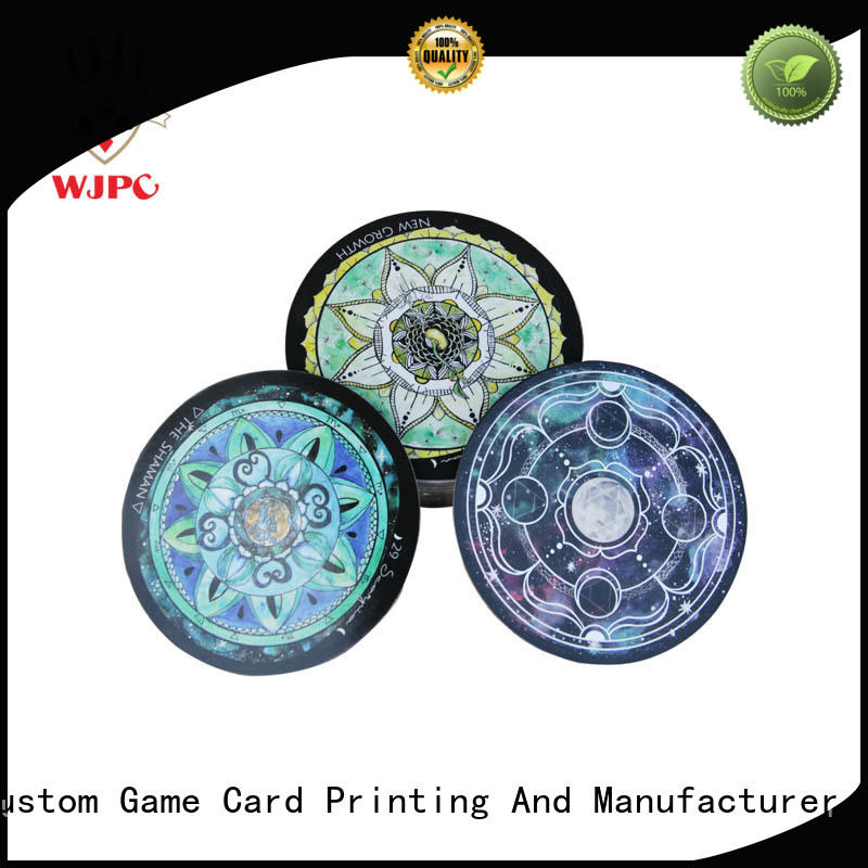 WJPC semi-glossy tarot card deck manufacturing for game