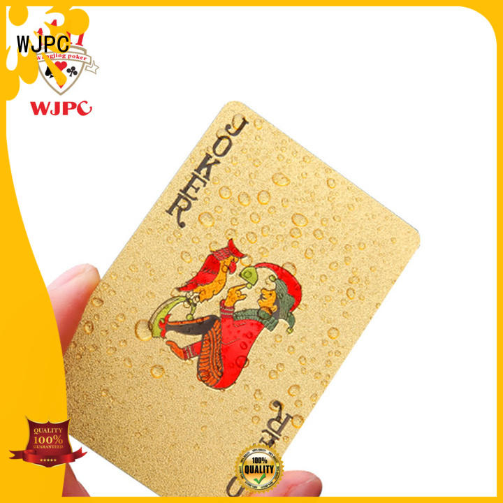 WJPC hot sale plastic coated playing cards producer for board game
