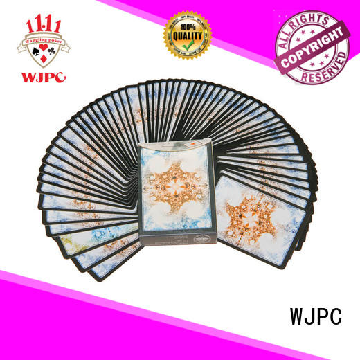 WJPC golssy royal playing cards 100 plastic Suppliers for kindergarten