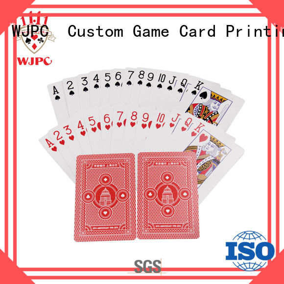 WJPC playing quality poker cards Suppliers for children