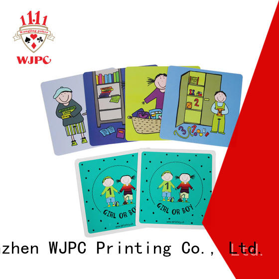 WJPC Custom learning cards for toddlers factory for school