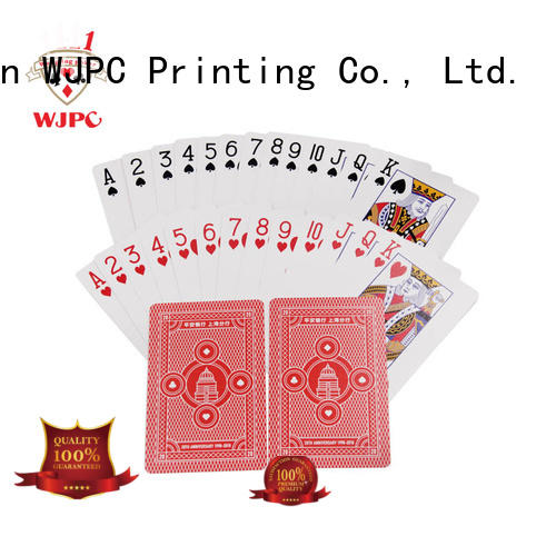 WJPC promotional promotional playing card for business for casino