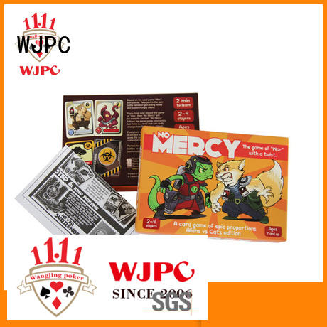 WJPC child-friendly custom game card printing for kindergarten