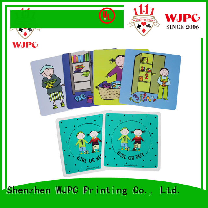 WJPC high-quality learning cards for toddlers newly for children