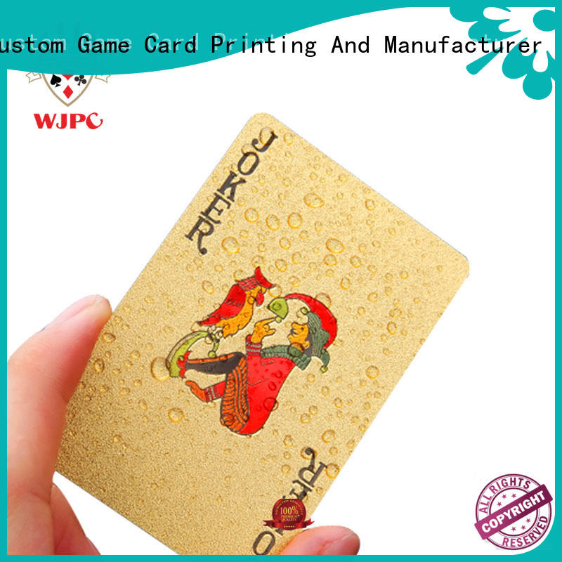WJPC High-quality best quality playing cards in the world for sale for kindergarten