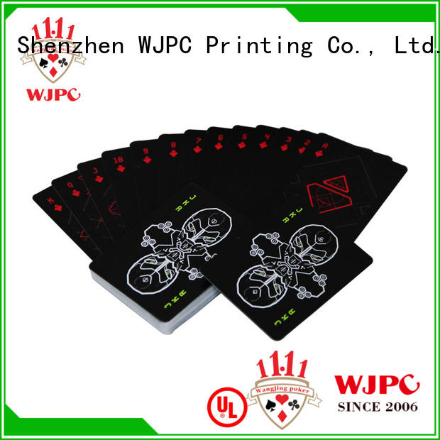 WJPC fantastic types of playing cards for casino