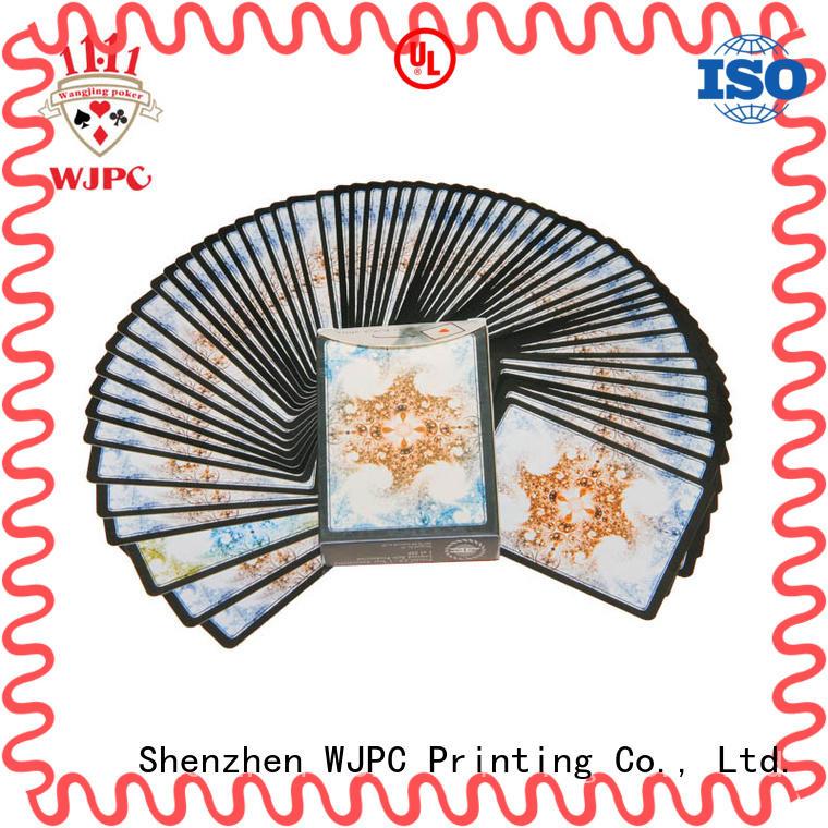 WJPC high reputation magic poker card manufacturers for casino