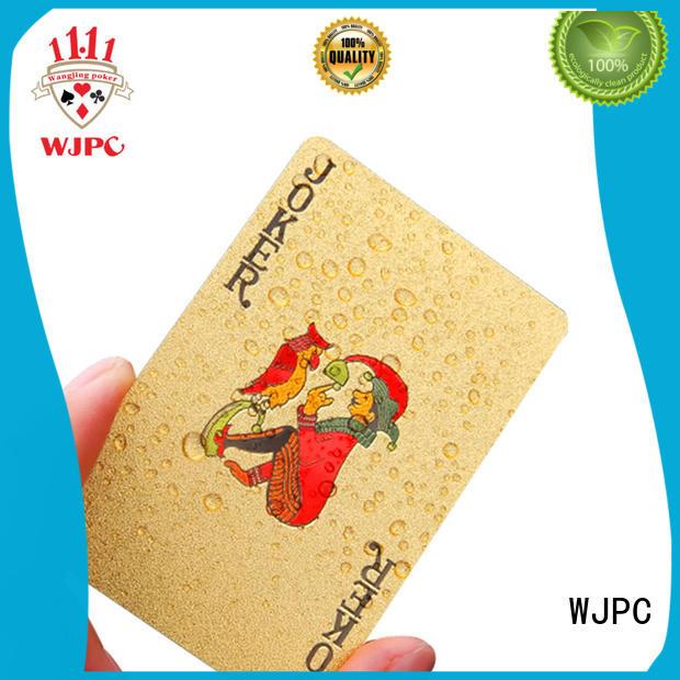 WJPC fashion custom plastic cards plastic for board game