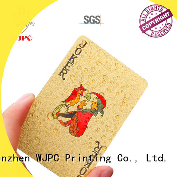 WJPC color custom playing cards factory for board game