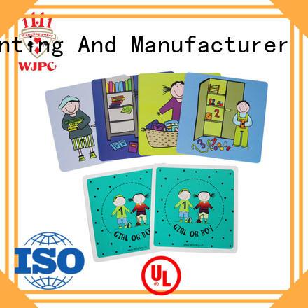 WJPC funny educational flash cards cards for kindergarten
