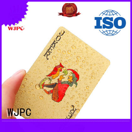 WJPC cards bicycle plastic poker cards manufacturers for kindergarten
