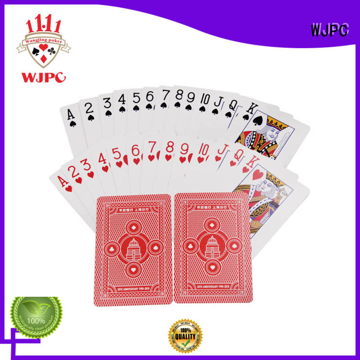 cards poker card printed for game WJPC