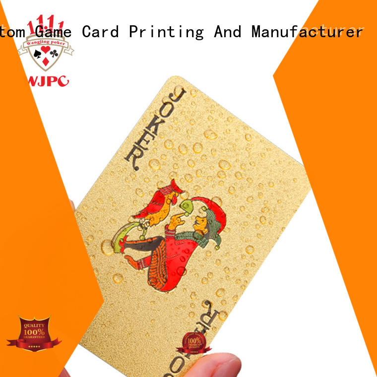 WJPC funny plastic poker playing cards playing for children