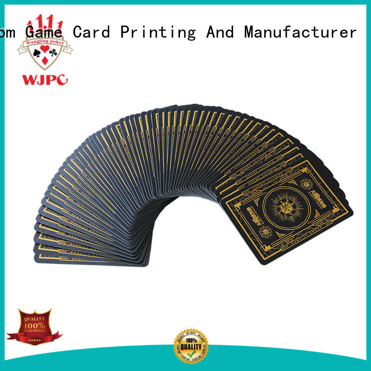 WJPC High-quality playing card size manufacturers for game