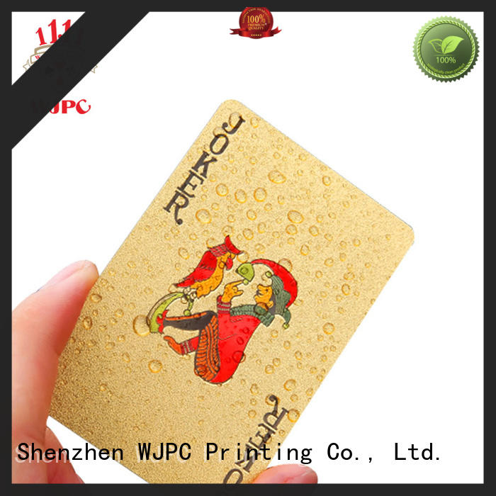 WJPC waterproof plastic poker playing cards cards for board game