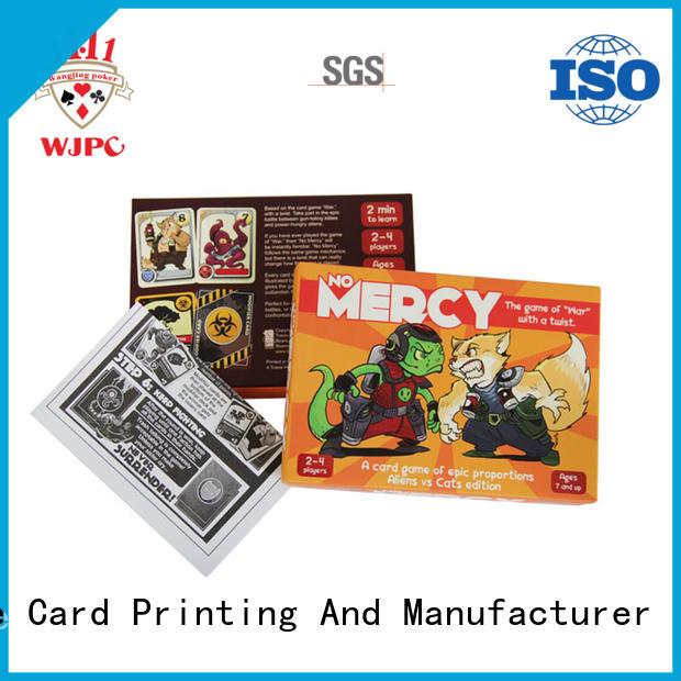 WJPC hot sale custom game card printing game for board game