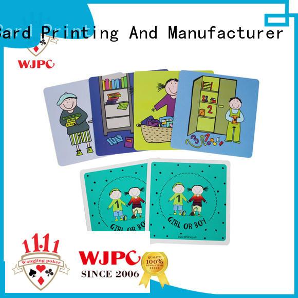 WJPC educational alphabet flash cards environmentally friendly for school