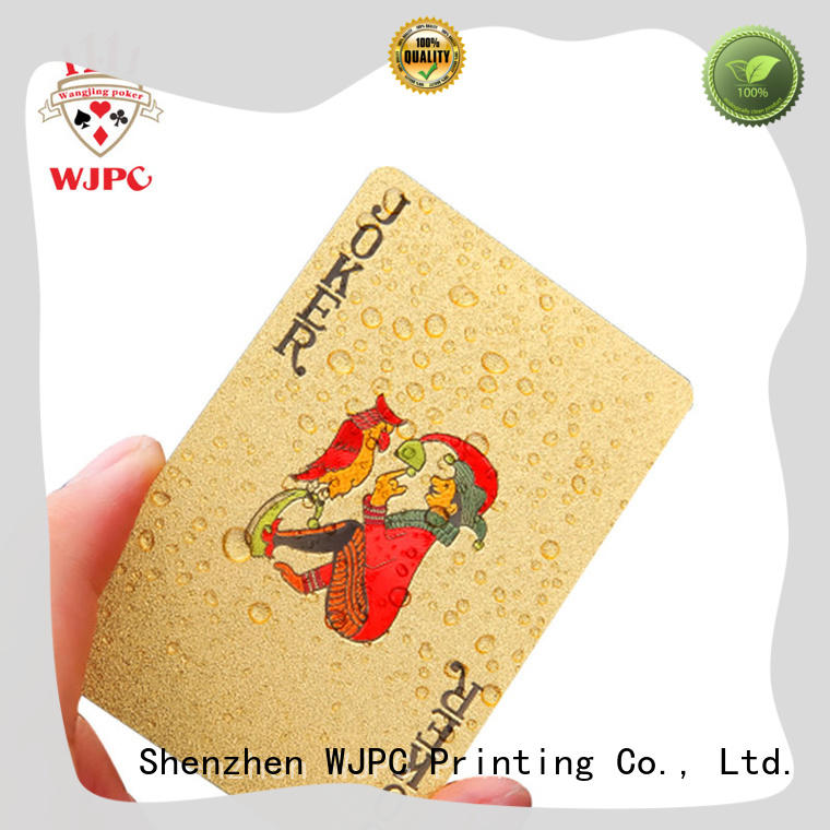 WJPC waterproof best plastic playing cards brand for business for board game