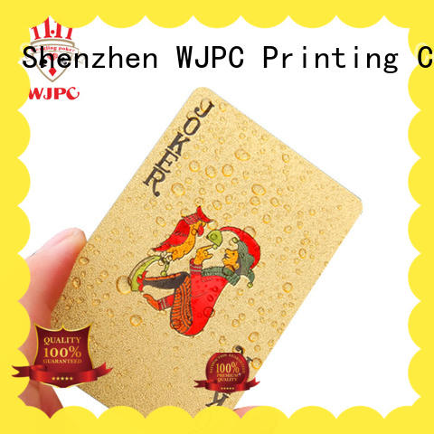 WJPC waterproof plastic playing cards for sale for bar