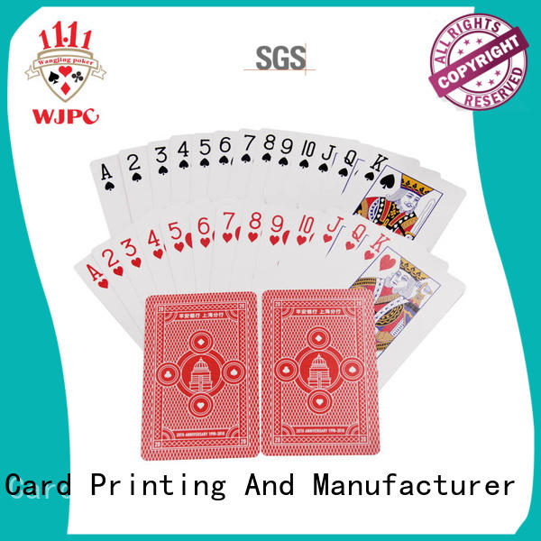 custom promotional playing cards cards waterproof core WJPC Brand