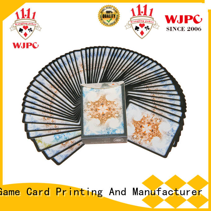 WJPC printing best poker cards in the world for casino