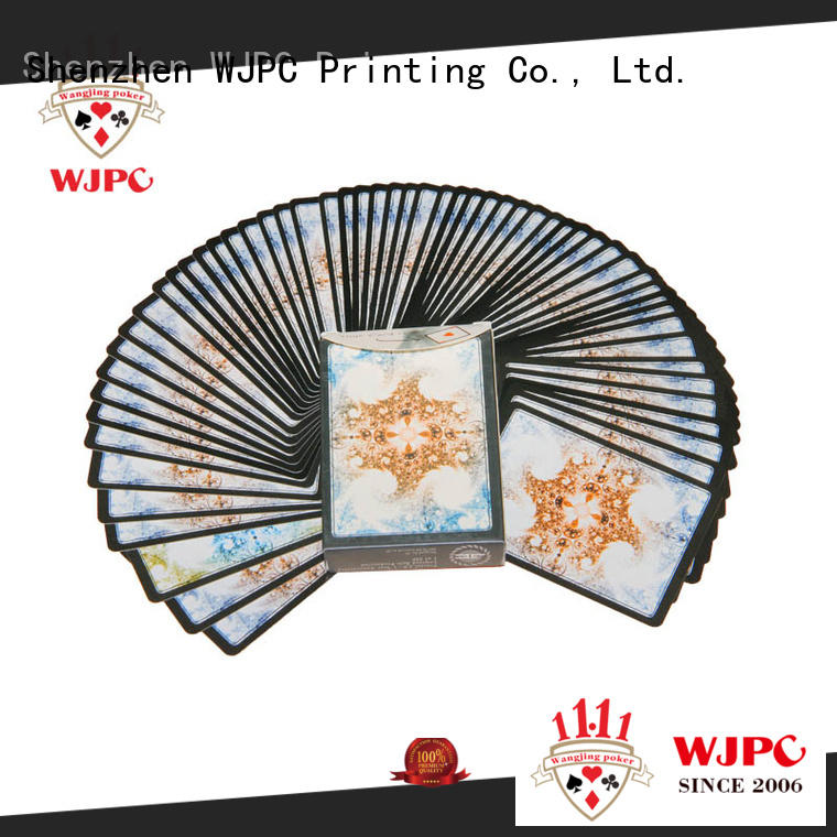 WJPC High-quality plastic playing cards for sale company for children