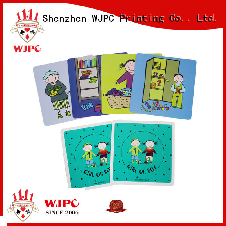 WJPC hot sale kids flash cards producer for children
