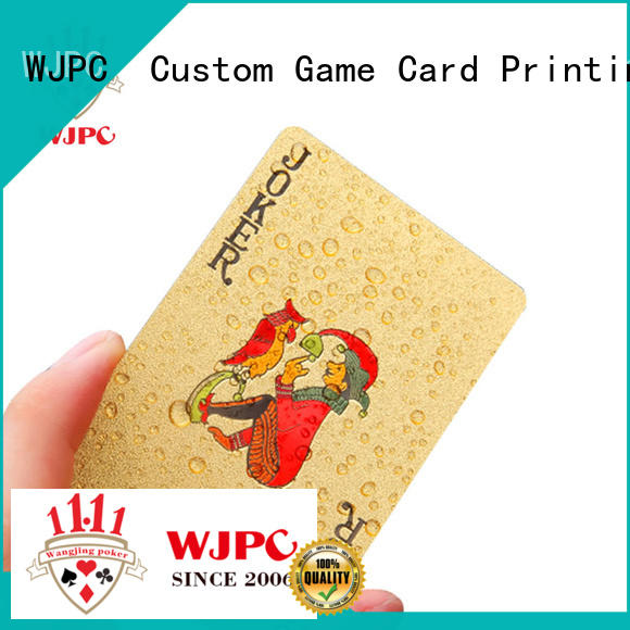 WJPC cards custom plastic cards for sale for board game