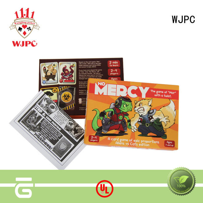 WJPC game custom game card for wholesale for bar