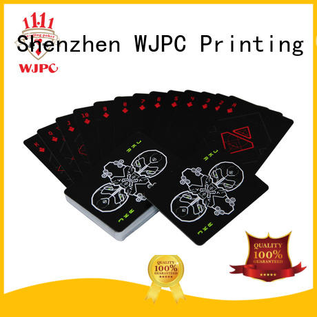 WJPC customized all plastic playing cards for business for kindergarten