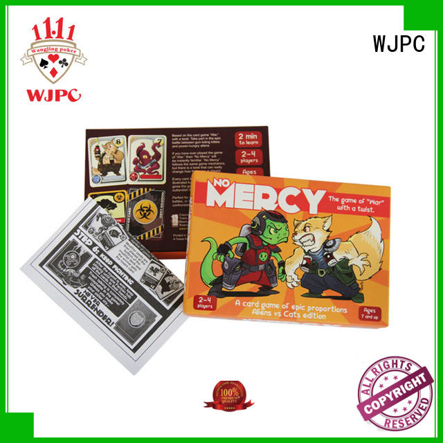 WJPC cards custom card game printing company for kindergarten