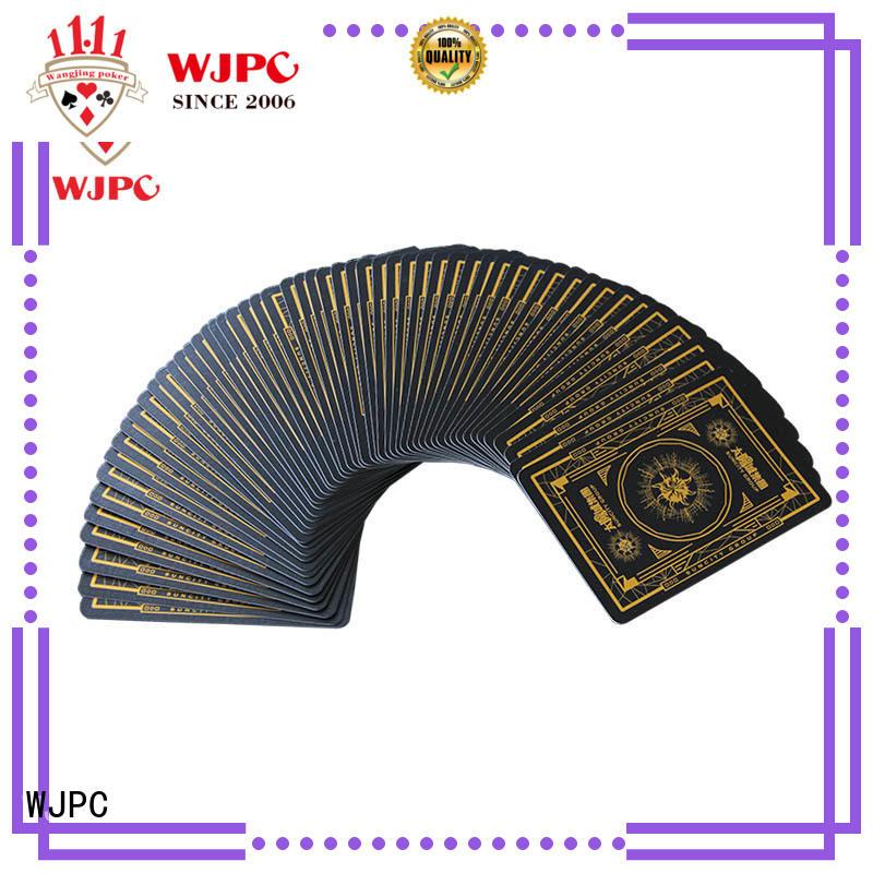 WJPC casino professional poker cards factory for casino show