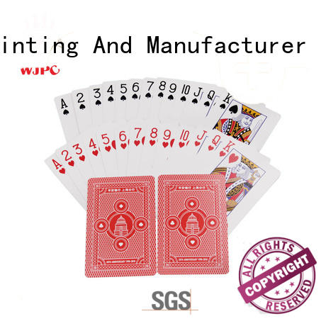 WJPC logo promotional products playing cards factory for party