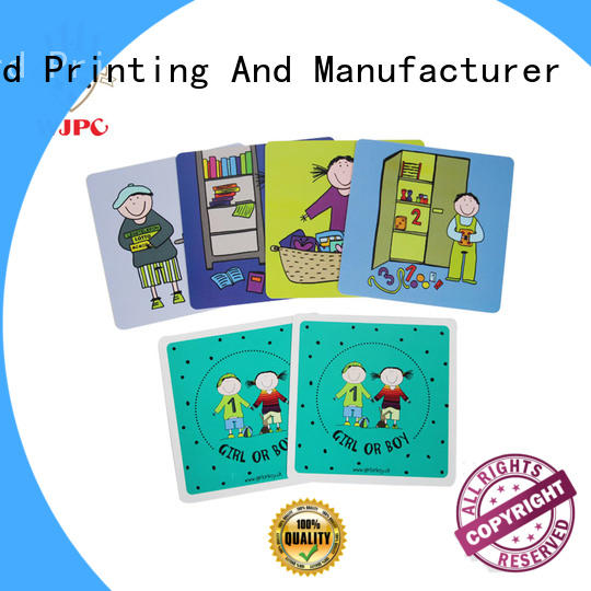 quality fun OEM flash cards for kids WJPC